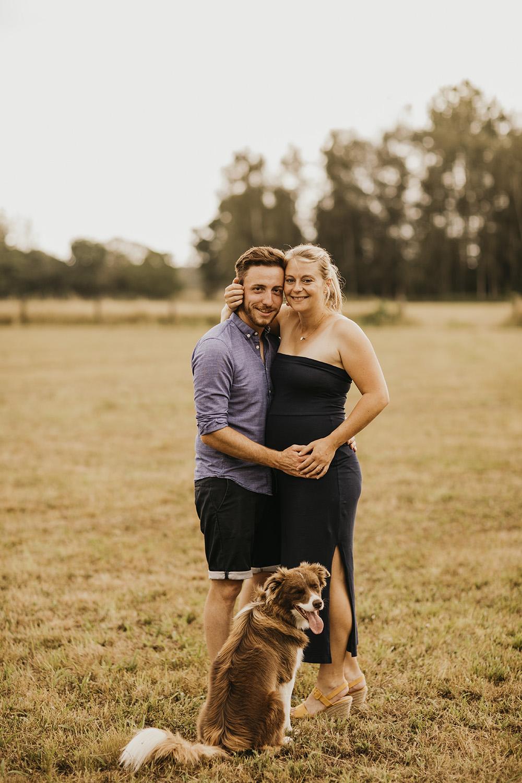 family couple pregnant