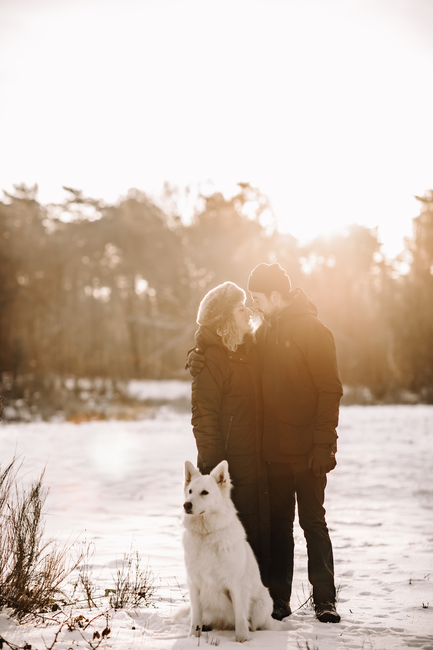 koppel fotosessie hond liefde