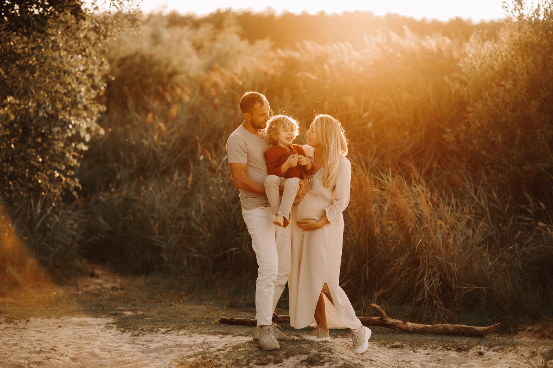 gezinsfotograaf zwangerschap gouden uurtje